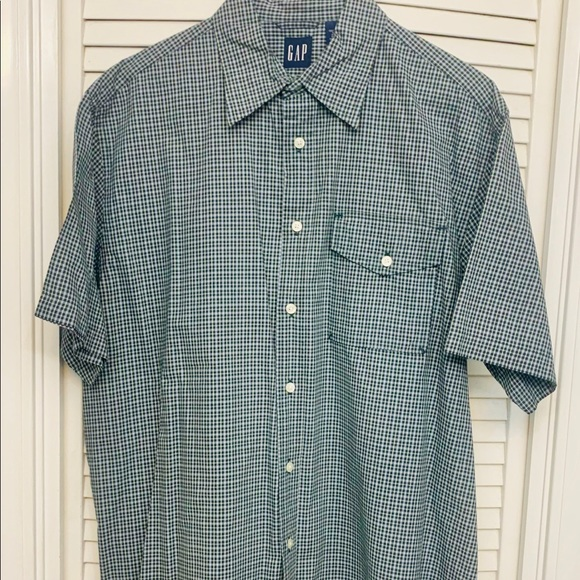 GAP Other - Gap plaid short sleeve shirt paid Forest & Gold